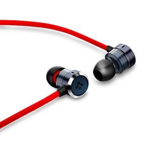 Earphones, Spigen® Aluminum Earbuds with Remote for Apple [Aluminum TEKA] Aluminum In-Ear Headphone w/ Volume Control Premium Stereo headphones / Earphones - Made for iPhone, iPod, iPad (MFI) - Red (SGP10697)