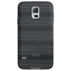 Skech Groove Flexible Case for Samsung Galaxy S5 - Retail Packaging - Black