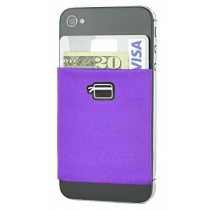 CardNinja Ultra-slim Self Adhesive Credit Card Wallet for Smartphones, Eggplant