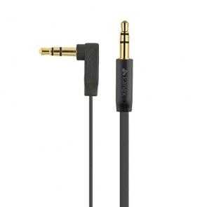 Kanex 3.5mm Stereo Audio Cable 6-Feet Flat Angled-Black (KAUXMM6FFA)