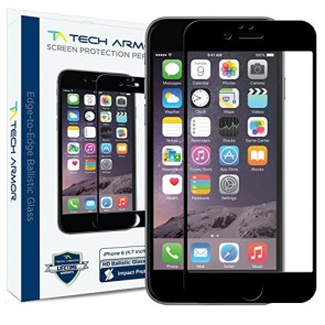 "Tech Armor ELITE Ballistic Glass Screen Protector Edge-to-Edge for iPhone 6/6s (4.7"") - Black"