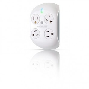 360 Electrical Revolve Surge Protector with 4 Rotating Outlets White/Silver