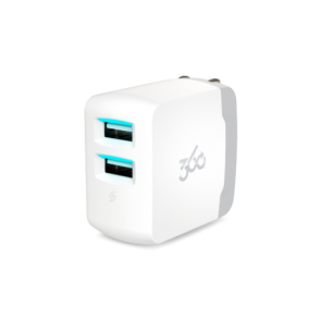 360 Electrical Vivid3.4 2-Port 3.4A USB Wall Charger (White)