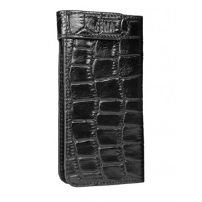Sena 826316 Hampton Wallet Leather Case for iPhone 5 & 5s - 1 Pack - Retail Packaging - Croco Black