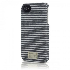 Hex Core Canvas Case for iPhone 4/4s - Retail Packaging - Black