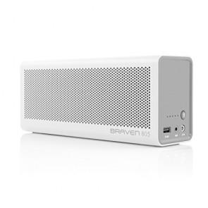 Braven 805 Wireless HD Bluetooth Speaker - Retail Packaging - White/Light Gray