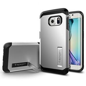 Galaxy S6 Edge Case, Spigen [HEAVY DUTY] Tough Armor Case for Samsung Galaxy S6 Edge [EXTREME PROTECTION] - Satin Silver (SGP11432)