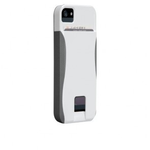 Case-Mate Case for iPhone 5 - Retail Packaging - White/Titanium Grey