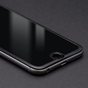 Bodyguardz Pure Glass ScreenGuardz + The Crown for Apple iPhone 6 Plus (Black)