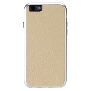 Just Mobile AluFrame Leather Case for iPhone 6 - Retail Packaging - Beige