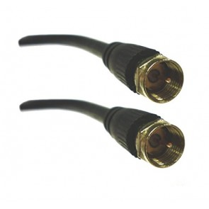 Professional Cable RG6 F Connector to F Connector - 6 Feet (BLACK)