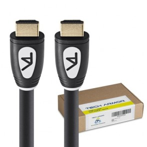 Tech Armor HDMI Cable - 6 Feet - 1.4 Standard - Supports 3D, Ethernet, and Audio Return - Connect your HDTV to HD Cable box, HD Satellite Box, Blu-ray Disc Player, DVD Player, Xbox, PlayStation - Dual Shielded Premium Quality Gold Plated - Lifetime Warran