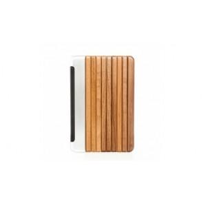 Woodcessories EcoGuard - iPad Case Walnut/ Silver Aluminum/Leather/Transclucent Hardcover for iPad Mini 4