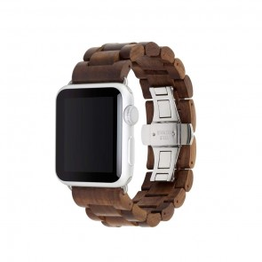 Woodcessories EcoStrap - Wooden Apple Watch Band (38mm)Walnut/ silver (Stainless Steel) for Apple Watch (38mm)