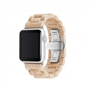 Woodcessories EcoStrap - Wooden Apple Watch Band (38mm)Maple/ silver (Stainless Steel) for Apple Watch (38mm)