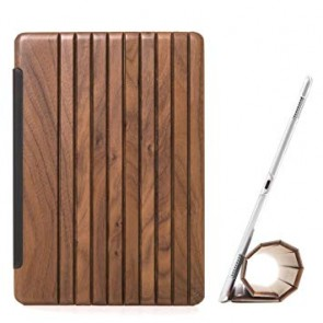 Woodcessories EcoGuard - iPad Case Walnut/Leather/Transclucent Hardcover for iPad Pro 10.5 (2017)