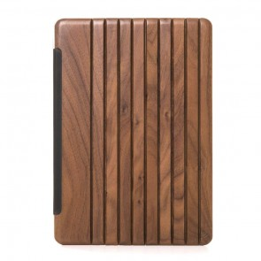 Woodcessories EcoGuard - iPad Case Walnut/Leather/Transclucent Hardcover for Pro 12.9 (Universal Fit 2015/2017)