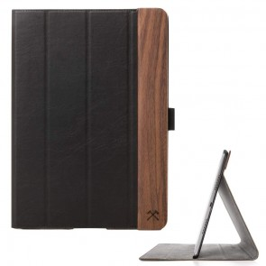 Woodcessories EcoFlip - iPad Wooden Leather Case Walnut/Leather (vegan)/Polycarbonate/Microfiber for Pro 12.9 (Universal Fit 2015/2017)