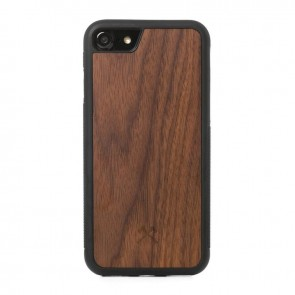 Woodcessories EcoCase - Collision Case Walnut/Black TPU Softcase for iPhone 7/8