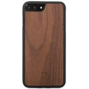 Woodcessories EcoCase - Collision Case Walnut/Black TPU Softcase for iPhone 7/8 Plus