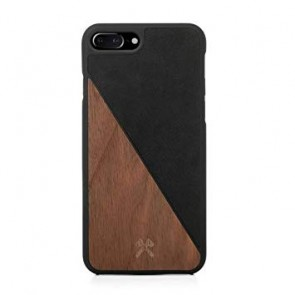 Woodcessories EcoCase - EcoSplit Walnut/Black Leather (vegan) for iPhone 7/8 Plus