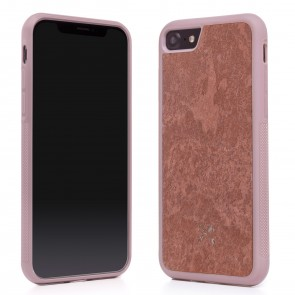 Woodcessories EcoCase - Stone Edition - Airshock Case for iPhone 7/8 - Canyon Red
