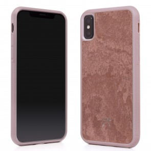 Woodcessories EcoCase - Stone Edition - Airshock Case for iPhone X - Canyon Red