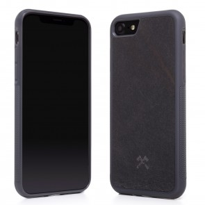 Woodcessories EcoCase - Stone Edition - Airshock Case for iPhone 7/8 - Volcano Black