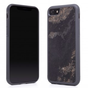 Woodcessories EcoCase - Stone Edition - Airshock Case for iPhone 7/8 - Camo Gray