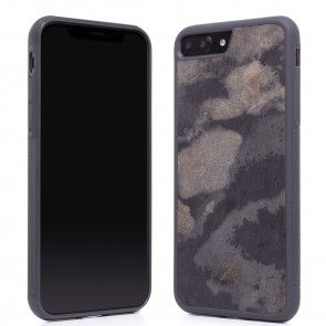 Woodcessories EcoCase - Stone Edition - Airshock Case for iPhone 7/8 Plus - Camo Gray