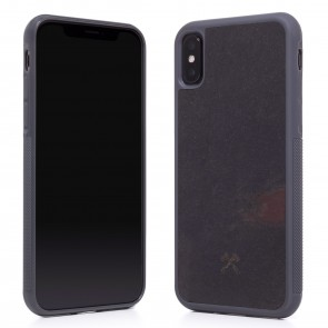 Woodcessories EcoCase - Stone Edition - Airshock Case for iPhone X - Volcano Black