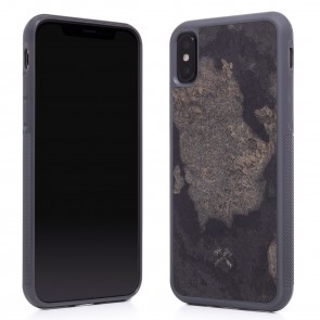 Woodcessories EcoCase - Stone Edition - Airshock Case for iPhone X - Camo Gray