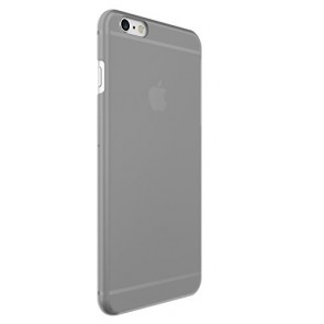Just Mobile TENC Self-Healing Ultra-Slim Transparent Case for iPhone 6s Plus/6 Plus - Retail Packaging - Grey