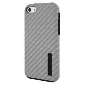Incipio IPH-1156-SLVR DualPro Dual Protection with Carbon Fiber Finish - Apple iPhone 5C - Silver/Blue
