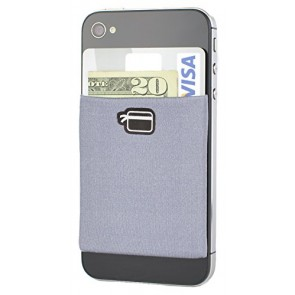 CardNinja Ultra-slim Self Adhesive Credit Card Wallet for Smartphones, Steel Grey