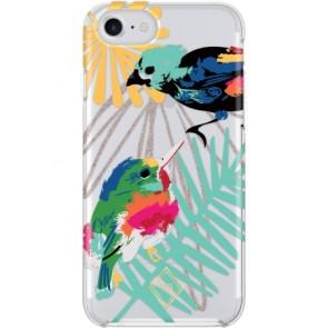 Vera Bradley Flexible Frame Case for iPhone 7 & iPhone 6/6s - Mini Birds Multi/Multi Glitter/Clear