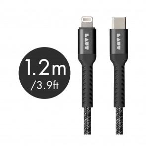 Laut LINK TOUGH MATTER USB C to Lightning Cable Black 1.2m