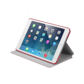 LAUT R-EVOLVE for Apple iPad Mini With Retina Display Case, Slim Fit Lightweight 360° Rotating Case, Multi Angle Case for iPad Mini Tablet, iPad Mini Cover with Auto Wake/Sleep. Full Protection Case - Red