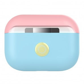 SwitchEasy Colors Duo caps case for AirPods Pro, Baby Blue
