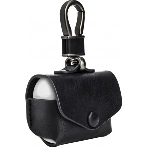 SwitchEasy Wrap for AirPods Pro leather case with ring, Black