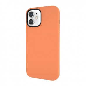 MagEasy MagSkin  for 2020 iPhone 12 mini(Compatible with Apple MagSafe) Kumquat