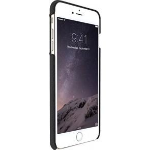 Just Mobile QuattroBack Artisanal Fashionable for iPhone 6s Plus/6 Plus - Retail Packaging - Black