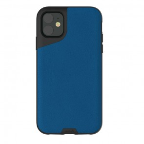 Mous iPhone 11 Contour Case Blue Leather