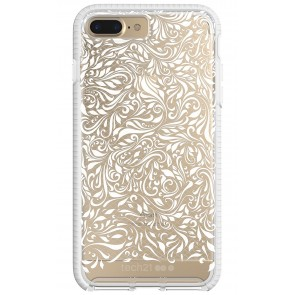 Tech21 Apple iPhone 7 Plus / iPhone 8 Plus Evo Check Lace Edition Case - Clear And White