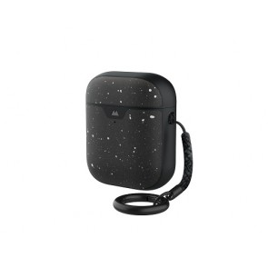 Mous AirPods 1 & 2 Case Speckled Black Leather
