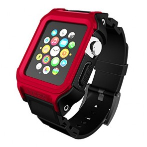 Incipio Octane Strap Watch Band for Apple Watch 38mm - Red/Black