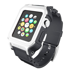 Incipio Octane Strap Watch Band for Apple Watch 42mm - White/Grey