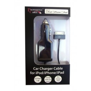 Professional Cable CAR-ICHARGE i-Charge Car Charger for iPods, iPhones and iPads