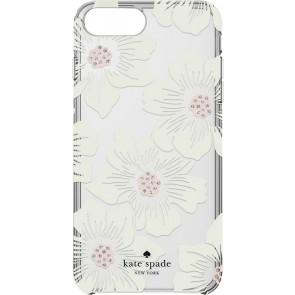 kate spade new york Protective Hardshell Case (1-PC Comold) for iPhone 7 Plus - Hollyhock Floral Clear/Cream with Stones