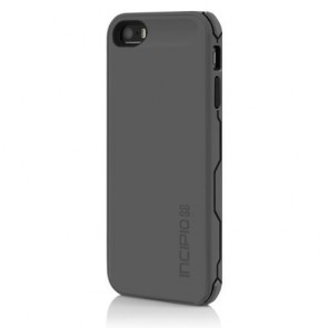 Incipio offGRID 2000mAh Rugged Battery Case for iPhone 5 - Carrying Case - Retail Packaging - Grey/Black